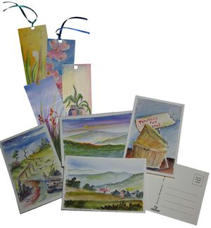 Milmont is pleased to offer original paintings, bookmarks, postcards and note cards by local artist Jarry Young.