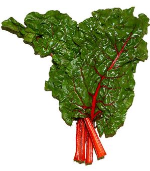Swiss Chard is in the same family as garden beets. Fresh, young chard can be used in salads. Mature chard leaves and stalks are typically more bitter and are, therefore, generally cooked or sauteed.