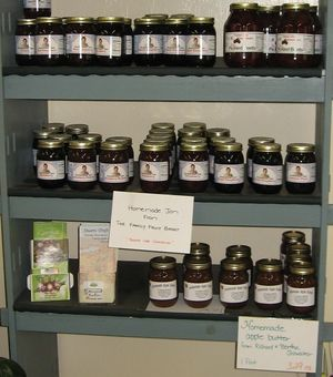 We also offer fruit jams and butters from The Family Fruit Basket in Stuarts Draft.